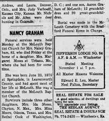Graham insurance agency 204 e 5th st fulton, mo 65251. Nancy Jane Cain Graham Obit Newspapers Com