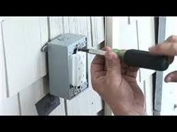electrical help how to install a power receptacle outside
