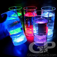 glowing led light up tumbler drink glasses