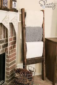 Diy Wooden Blanket Ladder Living Room Diy Decorating Ideas