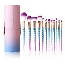 cosmetics uk makeup brushes set colorful unicorn 12pcs foundation eyebrow eyeliner eyeshadow brush cosmetic conceler brushes kit tool violet