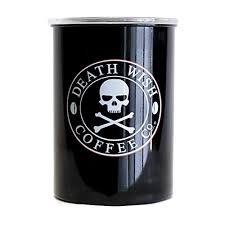 Death Wish Coffee Chart Death Wish Coffee Airtight Canister Stainless Steel And