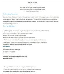 Sample Director Of Finance Resume 9 Financial Manager Resume Templates Pdf Doc Free Premium
