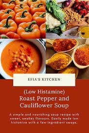 roast sweet pepper and cauliflower soup