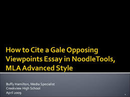how to cite a gale opposing viewpoints essay in noodletools mla adva