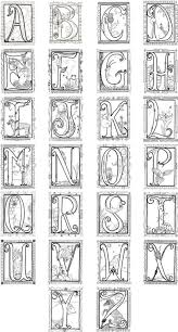 Printable Illuminated Letters Coloring Pages 4 Coloring