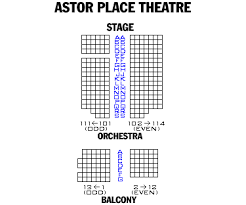 Lucille Lortel Theatre Seating Chart Astor Place Theatre Accessory For Men