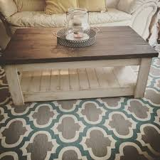 handcrafted solid wood coffee table