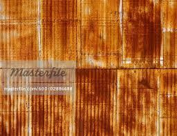 rusted corrugated iron wall stock photo