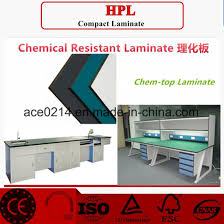 chemical resistant compact laminate used for countertop and cabinet in lab