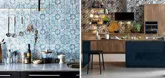 brightly patterned kitchen tiles