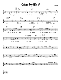 color my world sheet music colour my world sheet music for piano musescore