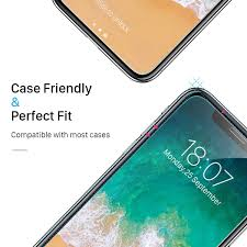 small cut hd clear tempered glass for iphone x