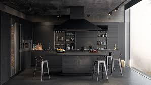 Contemporary Modern Black Kitchens 36 Stunning That Tempt You To Intended Perfect Design