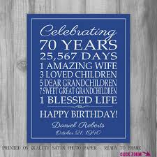 70th birthday gift birthday sign personalized gift for dad