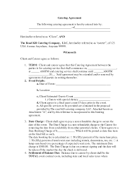 event agreement contract nice blank contract agreement form sample for catering with term