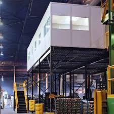 Warehouse mezzanine modular office Steel Warehousemezzanine Office Mezzanine Aleva Storage Systems Mezzanines Panel Built
