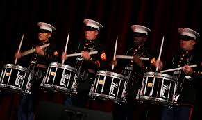 percussionists with marine corps band new orleans perform on se during their holiday concert