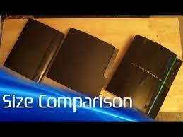 Ps3 Versions Chart Super Slim Ps3 Size Comparison