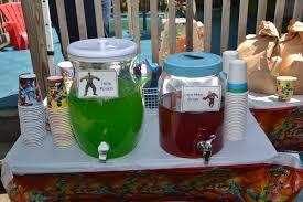 superhero birthday party drink ideas