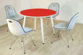 Tischgruppe Im Stil Der Fünfziger Jahre Esstisch Rund Rotweiß Und