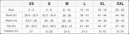 Chart Womens Jersey Immo Size - Kasa