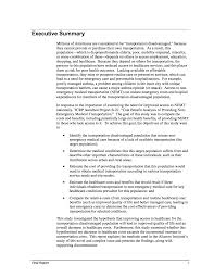 executive summery executive summary cost benefit analysis of providing non emergency
