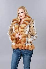 cat lynx jacket with red fox trim