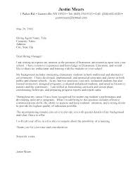 Sample Cover Letter For Early Childhood Educator Early Childhood