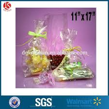 clear cello cellophane bags gift basket packaging bags flat