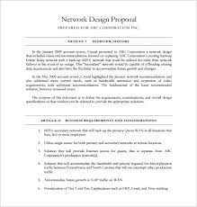 sample network proposal network design proposal template one piece