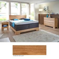 Schlafzimmer Lille Premium Eiche Massiv Boxspringbett Kommode Nako