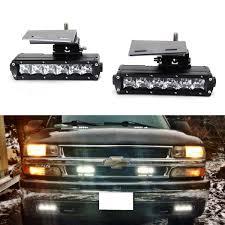 Led Light Bar Fog Lamps Kit For 2099 02 Chevrolet Silverado 1500 2500 00 01 3500 00 06 Suburban Tahoe 2 30w Led Lightbars Brackets Wiring