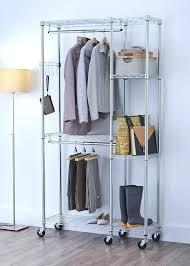 movable closet rack portable closet target portable wardrobe closet home depot