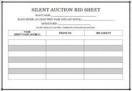 Sample Bid Sheets For Silent Auction 11 Silent Auction Bid Forms Examples Pdf