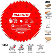 diablo in x tooth non ferrous plastic cutting saw blade laminate flooring skill saw