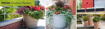 large outdoor planters at whole