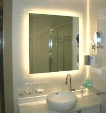 bathroom mirrors with led lights. Mirror With Led Lights Yellow Bathroom Back Light Behind Glass Decorations Sink Ceramics Wall Cabinet Mirrors