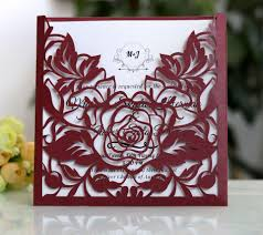 philippines 20 sets 1809140d new style rose laser cut graceful wedding invites party or