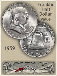 1960 Half Dollar Value Chart 1959 Franklin Half Dollar Value Discover Their Worth