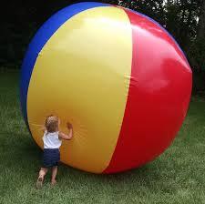 Beach ball on beach Flip Flops In Real Life Gigantic 10 Foot Inflatable Beach Ball Bigmouth Inc