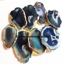 blue agate coasters grey agate coasters83