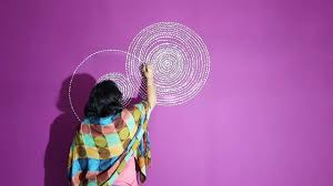 Purple Wall Design For All Simple Easy Purple Wall Design Wall Painting By Babita Keshan