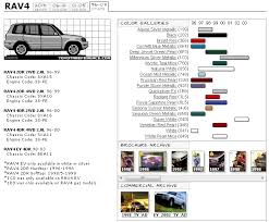 First Generation Rav4 Color Chart And Images Toyota Rav4