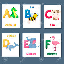 Alphabet Printable Flashcards Vector Collection With Letter A