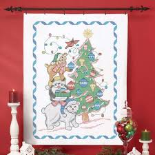 Herrschners® Holiday Stack Lap Quilt Top St&ed Cross-Stitch & Herrschners® Holiday Stack Lap Quilt Top Stamped Cross-Stitch Kit Adamdwight.com
