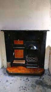 details about antique victorian cast iron kitchen range oven