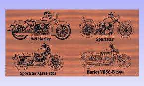 Harley Davidson Signs Decor Biker Bar Name Sign Harley GP And Son Woodcrafting 44