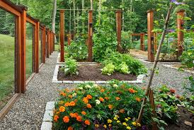 vegetable garden fence ideas Landscape Traditional with chicken wire