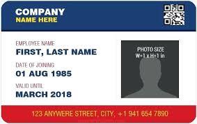 Company Id Badge Template Work Id Templates Work Id Card Template Staff Id Card